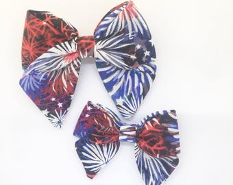 Avery Bow|Fireworks|Fourth of July Bow