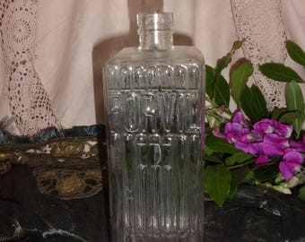 A great old FORVIL thick molded glass bottle