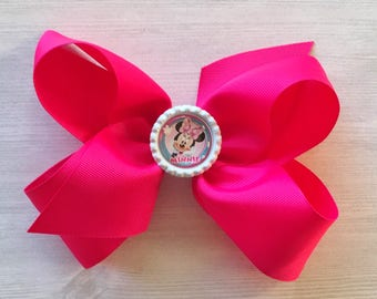 Large Bow,Minnie Mouse,Big Bow,Girls Bow,Girls Hair Bow,Princess,Photo Shoot,Bow,Hair Accessories,Accessories,Birthday,Gift,Girl,Handmade