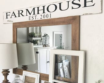 Large Custom Farmhouse Est. Sign