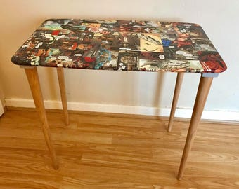 Upcycled Side Table topped in classic Star Wars comic