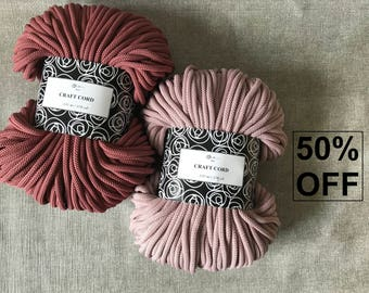 50% OFF 108 yards/100m Macrame cord crochet cord, crochet rope, crochet bag, macrame rope, crochet yarn, macrame yarn, cotton rope