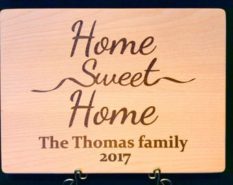 Cutting board, home sweet home, gift, housewarming, realtor, customized, personalized