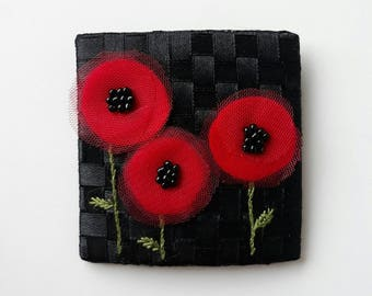 "Poppy brooch/Corsage ""poppies"""