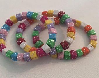 Kids roll the dice bracelet