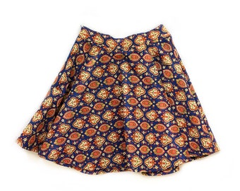 Psychedelic Paisley 60's Skirt