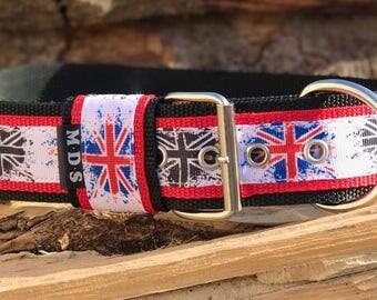 Dog collar - dog - collar strap - Doggy necklace ' Summer - England