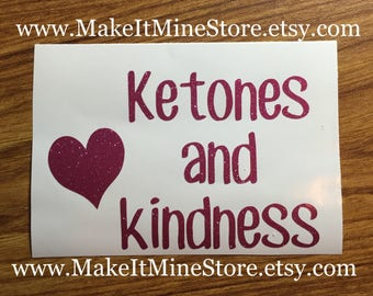 Ketones and Kindness Pruvit shirt Pruvit decal Pruvit ketones keto business cards car keto decal raspberry glitter #46