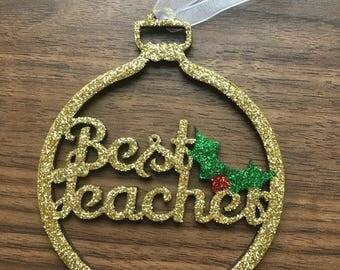 Best Teacher Christmas Bauble