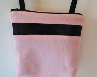 Sugar Glider Bonding Pouch, baby hedgehog bonding bag, small exotic nesting supplies, zipper bag, snuggle sack, Pink Fleece