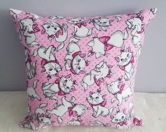 12 x 12 cats pillow/aristocats pillow/pink cat pillow/marie the cat pillow/cat gift/cat gift for bride/cat gift for birthday