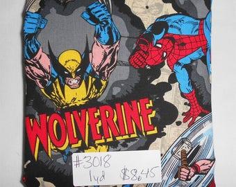 Fabric- 1 yard piece - Marvel Superhero/Hulk/Thor/Ironman/Wolverine/Spiderman/Captain America/Comic Book Characters/Marvel Comics (#3018)