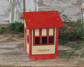 Mid Century A C Gilbert Erector Metal House Railroad Building Toy