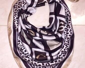 Stunning Jean-Louis Scherrer Vintage leopard silk scarf