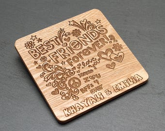 Personalised Best Friends Coaster - Best Friends Forever