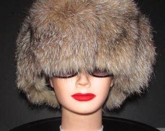 "Superbe bandeau de fourrure de renard cristal/Superb fluffy cristal fox fur headband  22"" X 7"""