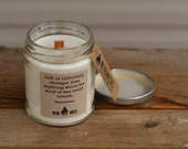 Sherlock Holmes Inspired Soy Candle - Pipe Smoke and Rain Scent
