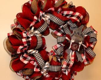 Crimson Tide Fanu0027s, Alabama Front Door U0026 Home Decor, Tide Football Wreath,  Bama