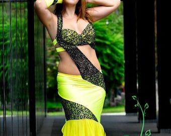 Belly dance costume - Yellow - by IOLANNA