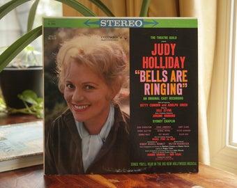 Bells Are Ringing Record, Vintage Judy Holliday LP Album, Original Cast Recording, Musical Soundtrack