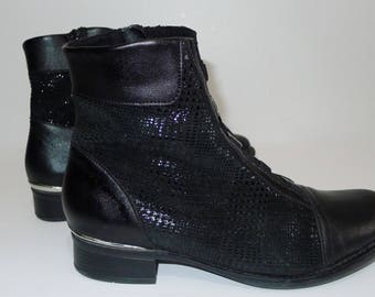 REMONTE  by Rieker  black leather ankle  boots, EU37/ US 7 M, , side zip. Mint condition.