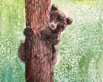 The Bear cub postcard
