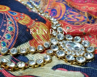Kundan - Indian Headpiece/ Necklace