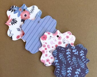 20 - 2.7 inch  Tag Die Cuts - Favor Tags Gift Tags   T57