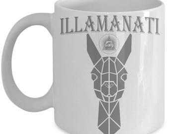Illamanati mug-Llama mug-As seen on Llama shirt-Llama gift for men