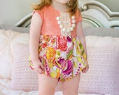 Girls spring romper - bubble romper - toddler romper - romper for toddler girls - baby spring romper - girls bubble romper - spring bubble