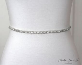 Crystal Bridal Belt, Bridal Sash, Wedding Belt, Wedding Sash Rhinestone Sash