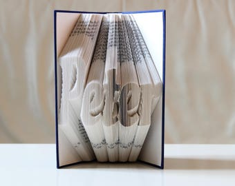 Your name - folded book