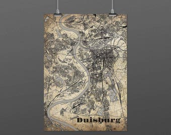 Duisburg DIN A4 / DIN A3 - print - turquoise