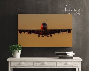 Moody A380 Canvas. Professionally shot limited edition canvas. Aviation, A380 Aircraft, Airliner, Canvas Print, Aviation Photography