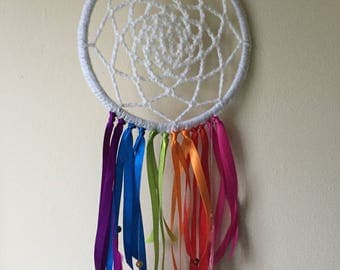 Beautiful rainbow dreamcatcher