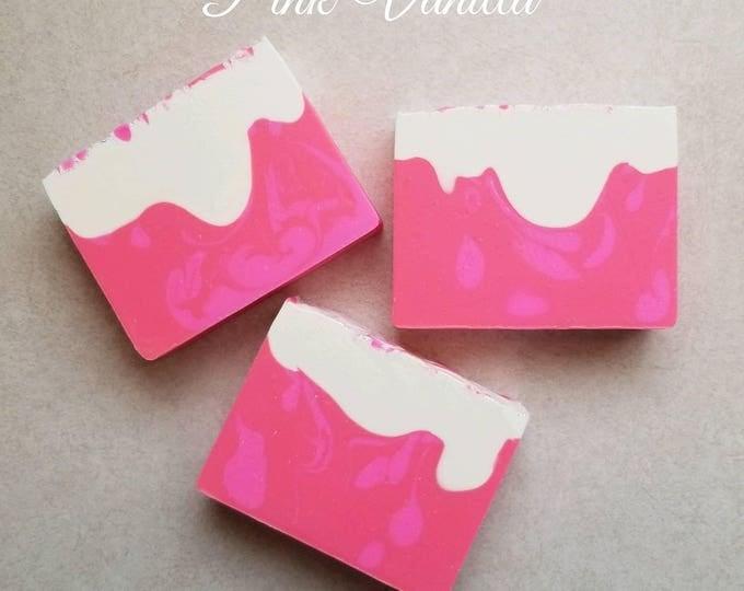 Pink Vanilla Silk Soap cold processed soap