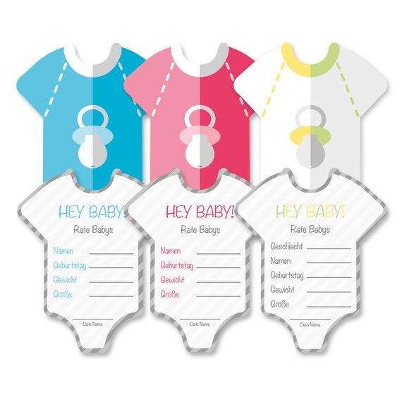 babyparty baby shower deko spiel set 8 st ck babybody in. Black Bedroom Furniture Sets. Home Design Ideas