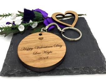 Heart Circle Keyring-anniversary keyring- anniversary keychain-Keyring personalized - valentines day gift-valentines day gift for husband