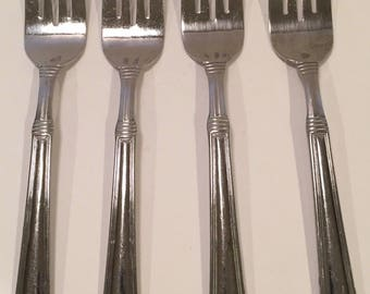 Pfaltzgraff Stainless Providence Glossy Four Salad Forksa