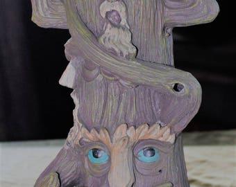 Tree Candle Holder, Hear-See-Speak no evil