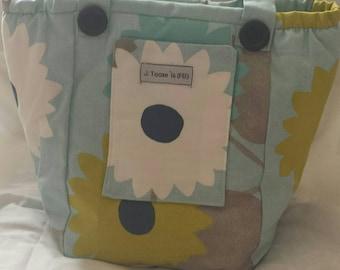 Price Reduced.Gorgeous 60's Patterned Vegan Handmade Shoulder Bag.