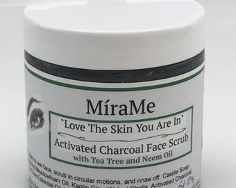 Kiss My Face-  4.2 Oz Activated Charcoal Face Scrub