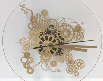 Gold Steampunk clock