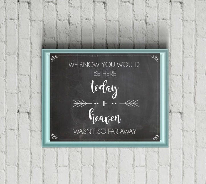 Custom Wedding Sign Write Your Own Message Chalkboard Personalized