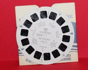 Vintage Sawyers Viewmaster Reel The Susten Pass Switzerland 2007