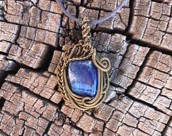 Lapis Wire Wrap