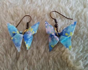 """""""Butterfly"""" hook earrings"""