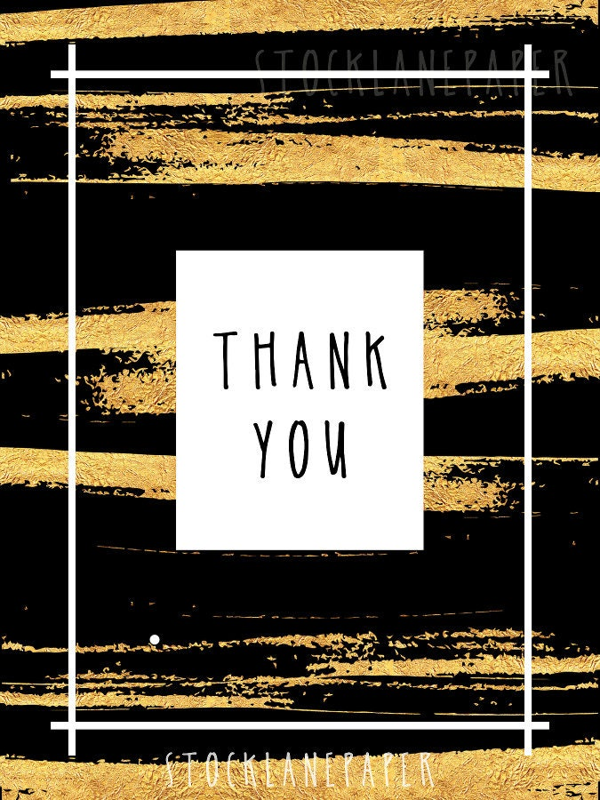 printable gold thank you card black and gold mini customer appreciation package inserts for business