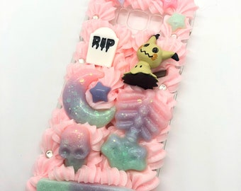 Kawaii creepy pastel decoden case for samsung s8 plus