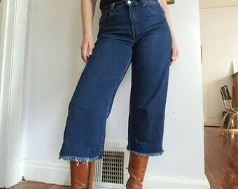 Vintage Levi's 577 Cropped Raw Hem Jeans